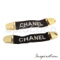 Chanel 90s - vintage Accessory - Suspender Clip Belt – black & light grey