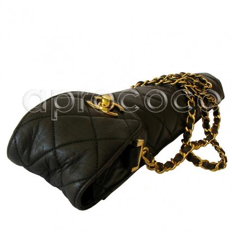 chanel umbrella. chanel 1995 quilted leather umbrella case purse chain strap \u0026 cc closure chanel