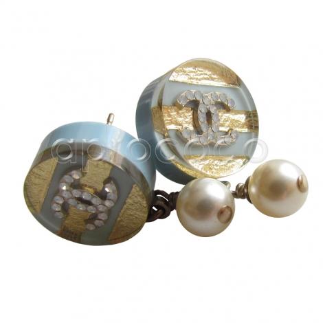 aprococo chanel 2013 c perlenkette kette ohrringe set pastellfarben geringelt. Black Bedroom Furniture Sets. Home Design Ideas