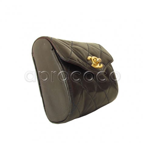aprococo vintage chanel mini tasche g rtel mit kettenschnalle dunkelblau fast schwarz. Black Bedroom Furniture Sets. Home Design Ideas