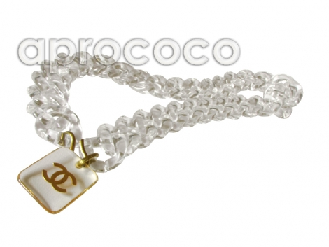 aprococo absolutely gorgeous chanel lucite links belt necklace wit cc logo. Black Bedroom Furniture Sets. Home Design Ideas