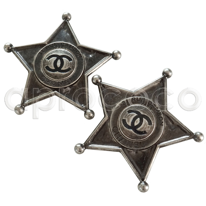aprococo - 2x CHANEL 2014 DALLAS Sheriff Star bag-badge