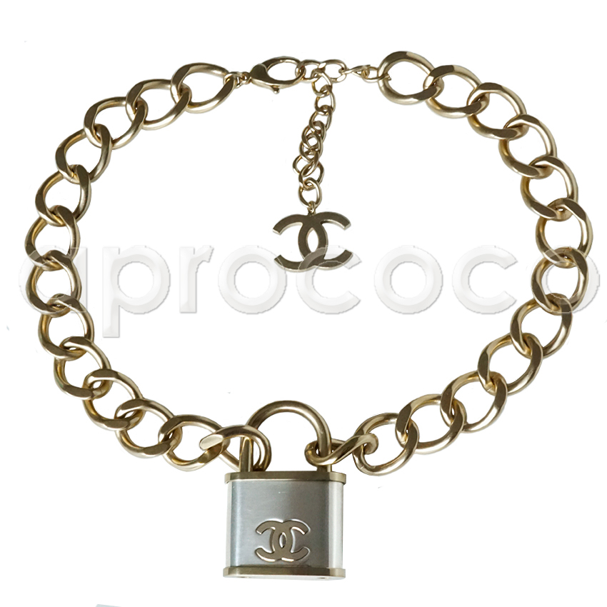 Chanel 2017 Chic Gigantic Xl Padlock Necklace