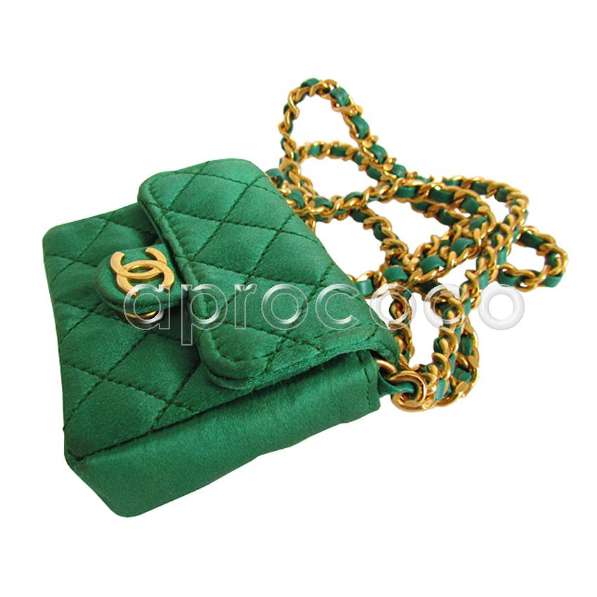 aprococo sagenhafte chanel kette als smaragd gr ne mini flap bag tasche. Black Bedroom Furniture Sets. Home Design Ideas