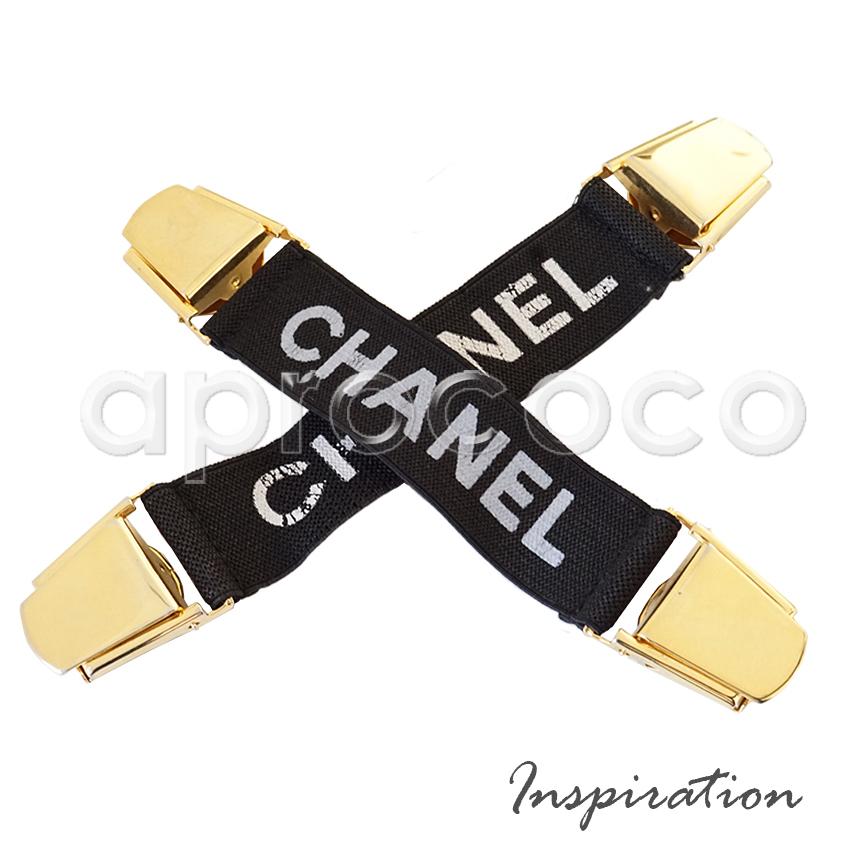 Aprococo vintage 90 39 s chanel accessoire clip straps - Accessoire retro ...