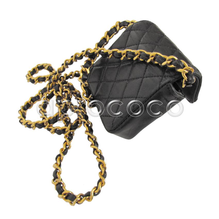 aprococo chanel kette als schwarze mini flap bag tasche aus leder. Black Bedroom Furniture Sets. Home Design Ideas