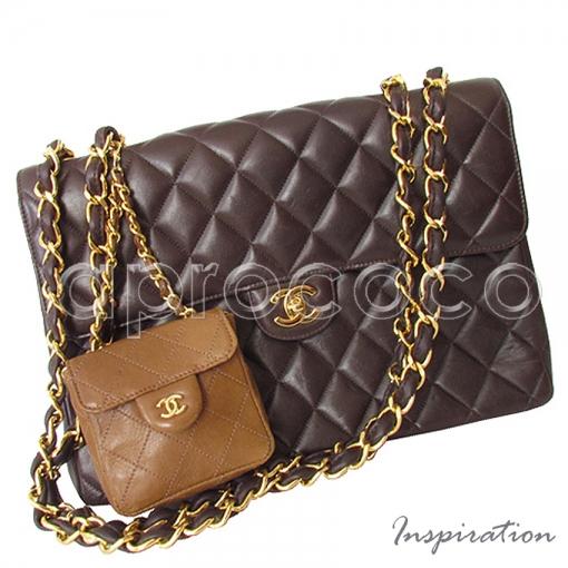 aprococo chanel vintage mini bag anh nger tasche gesteppt mit cc logo kette. Black Bedroom Furniture Sets. Home Design Ideas